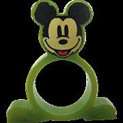 Rare Mickey Mouse Bakelite Napkin Ring – Green