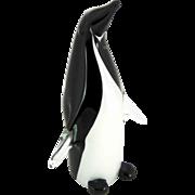 Large Murano Glass Penguin - Italy
