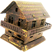 Water Mill House Figural Wind-Up Tape Measure