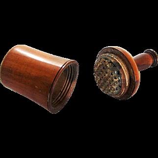 Treen Bottle Form Figural Nutmeg Grater – mid 19th c