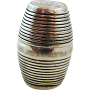 Sterling Silver Nutmeg Grater Barrel Thomas Meriton London 1789
