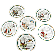 Vintage Set 6 French Opera Dinner Plates – PV