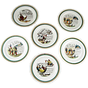 Vintage Set 6 French Opera Luncheon Plates – PV