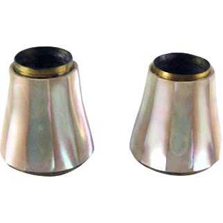 Pair Mother of Pearl Tubes for Opera Glasses - circa 1900