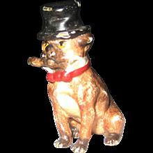 Antique Vienna Bronze Pug Dog – Top Hat Cigar