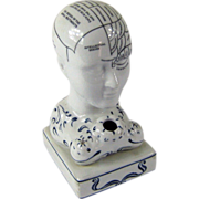 Antique Phrenology Head Inkwell – Pottery