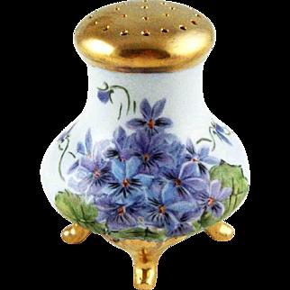 Vintage Porcelain Powder Shaker – Hand Painted Violets