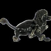 Large Vienna Bronze Poodle Dog – Antique c 1910