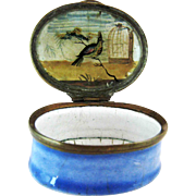 C 1780 Battersea English Enamel – Reverse Painting on Glass - Patch Box