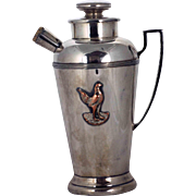 Silver Plate Cocktail Shaker – Rooster Motif – c 1935