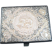 Large Vintage Reynolds Angels Leather Jewelry Box - Sterling Silver