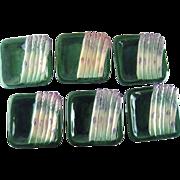 Set Six Asparagus Majolica Plates – maker Guillot, France