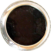 Vintage Round Sterling Silver Frame Easel Photo Picture Frame