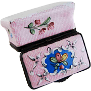 19th C Enamel on Copper Gingham Snuff Patch Box – Sampson