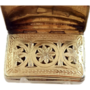 Ribbed Georgian Silver Vinaigrette – Joseph Willmore – c 1805