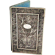 19th C. Silver Filigree Book Form Aide Memoire Note Book