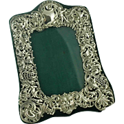 Antique Sterling Silver Photo Frame – Cherubs - Lion