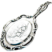 Antique English Sterling Silver Miniature Purse Mirror – 1908