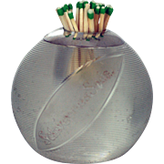 Large Threaded Glass & Silver - Schweppes Soda c 1915