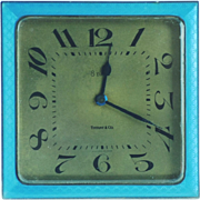 Art Deco Guilloche Enamel Tiffany Clock