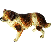Antique Vienna Bronze St Bernard Dog