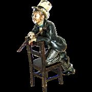 "Antique Vienna Bronze ""Dandy"" Cold Painted Gentleman – c 1890"