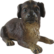 Antique Cold Painted Bronze Dog – Registry Marks