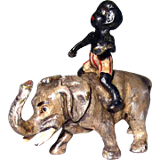 Antique Small Vienna Bronze Black Boy on Elephant – GESCHUTZ Hold for VB