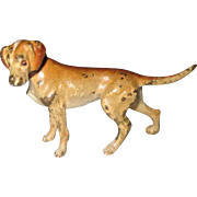 C 1910 Small Vienna Bronze Hound Dog