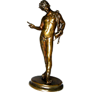 Small Grand Tour Classical Nude Bronze – Narcissus