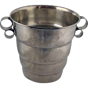 Mid Century Modern Champagne Ice Bucket - Silver Plate