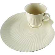 Vintage Wedgwood Nautilus Shell Cup & Snack Plate Set