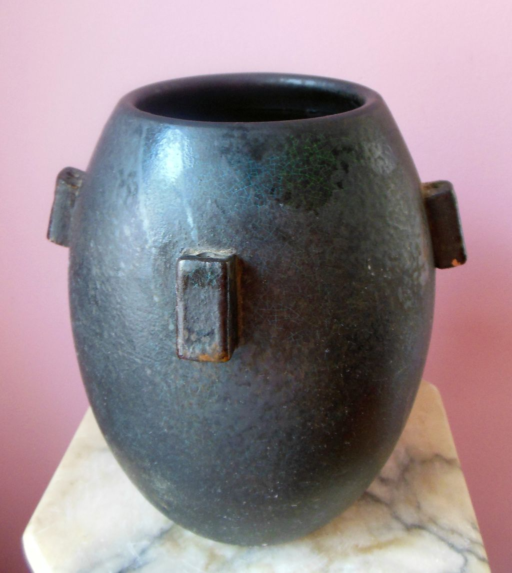 Exceptional Arts and Crafts Gunmetal American Pottery Vase