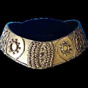 Vintage Modern Art Brass Torque Necklace Choker