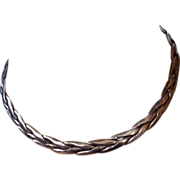 Mexico Sterling Silver TORQUE Necklace Collar Choker