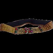 Vintage 1920 Art Deco Jeweled Gemstone Fashion Belt