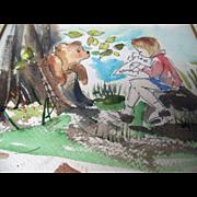 Diane Wilkoc Patton Winnie the Pooh Original Art Book Illustrator Bear Painting