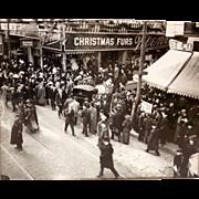 Downtown Crossing Filene's BOSTON Christmas Fur Sale Salvation Army Photograph