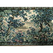 Arts & Crafts Landscape Hunting Dog Needlepoint Tapestry framed