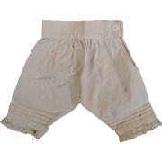Antique Papier Mache China Bisque Cloth Parian Wood French German Fashion Doll Pantaloons Knickers Undies