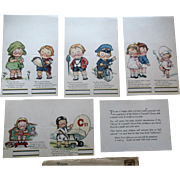 Campbell Kids Soup Doll Bridge Tally Place Cards Mint in Original 1930s Mailing Envelope with Motorcycle Airplane etc