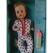 Teeny Tiny Tears Doll in Original Case 1960s American Character