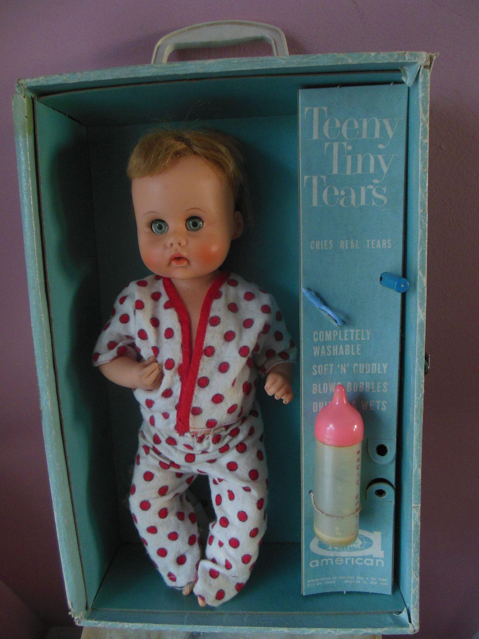 Teeny Tiny Tears Doll In Original Case 1960s American