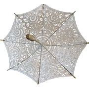 Vintage Fancy Lace Doll Parasol