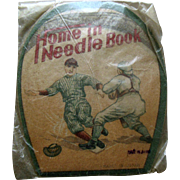 Vintage Baseball Needle Book Yankee ? Baseball Run to Home Plate Mint in Package
