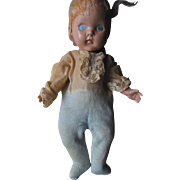 1950 Vogue Ginny Painted Eye Prince Charming Doll in Tagged Outfit