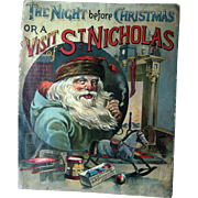 Antique 1888 The Night Before Christmas McLoughlin Bros. or Visit of St. Nicholas Book