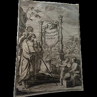 Antique 16C Old Master Print