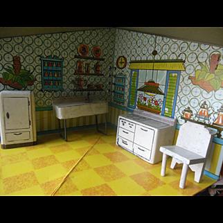 Vintage Kage Dollhouse Kitchen Furniture Set