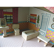 Vintage Kage Dollhouse Bathroom Furniture Set